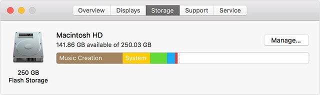 thông tin ổ cứng macbook