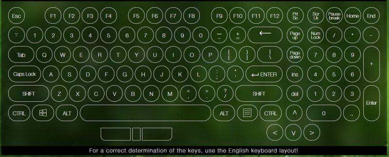 Test bàn phím